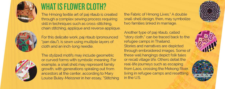 Hmong flower cloth